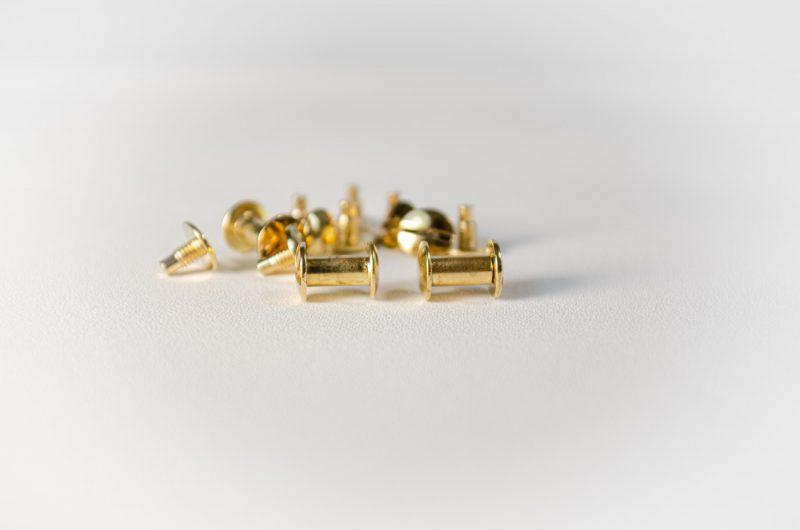brass plated chicago screws