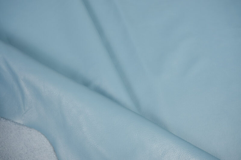 babu blue cow leather hide garment, upholstery