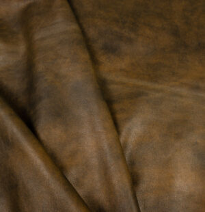 Antique cow leather hide - hand finished peppered yellow hide - side