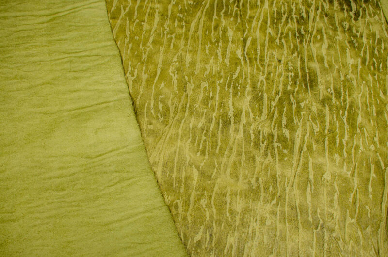 green textured chrome tanned hide