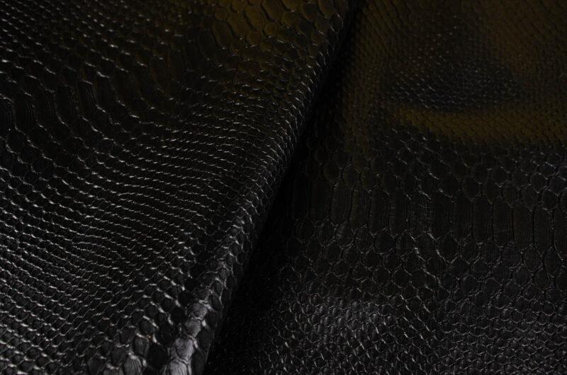 black crocodile emboss