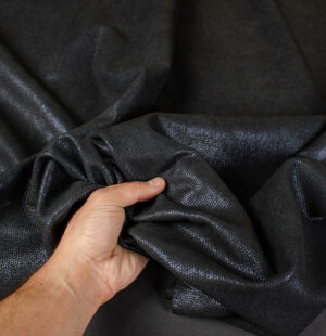 black embossed fashion leather hide