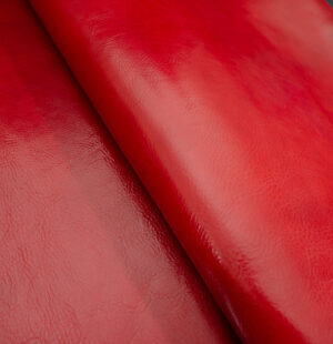 red vachetta leather